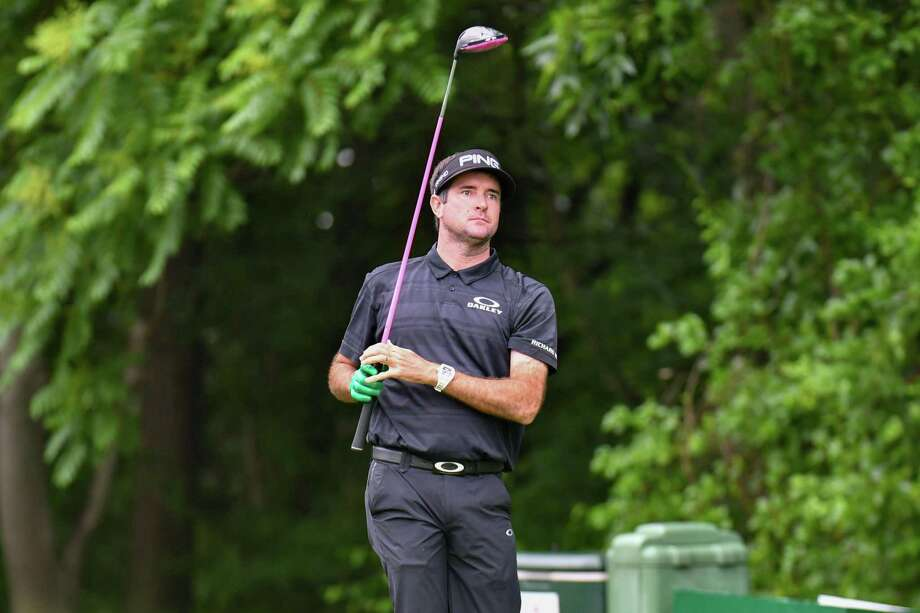 Bubba Watson watches the flight of his tee shot on the 12th hole during the opening round of the 2019 Travelers Golf Championship on Thursday June 20, 2019 at the TPC River Highlands, in Cromwell, Connecticut. Photo: Gregory Vasil / For Hearst Connecticut Media / Connecticut Post Freelance