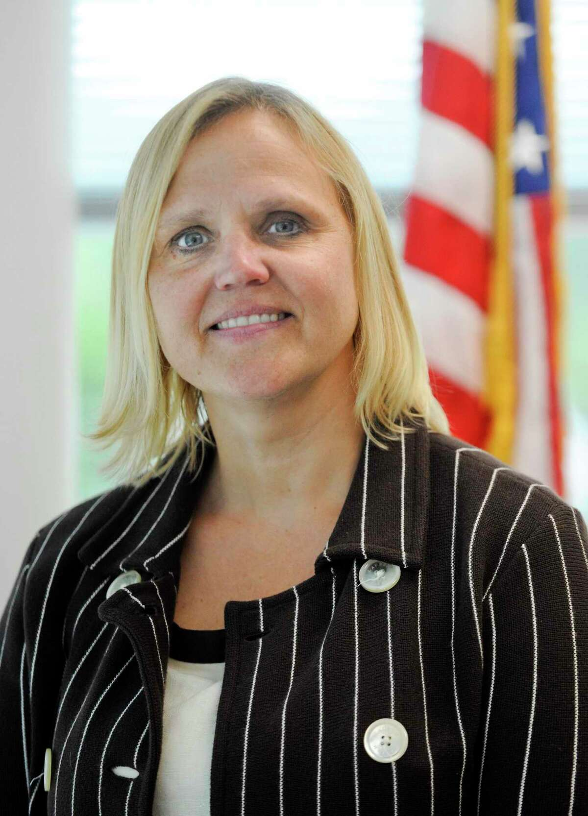 Toquam Principal Amy Beldotti is photograph on June 18, 2019 in Stamford, Connecticut. The Stamford Board of Education is expected to name Beldotti as the new associate superintendent for teaching and learning.