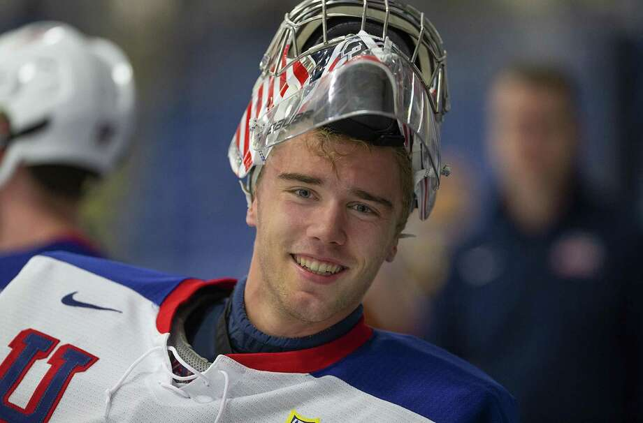 Darien's Spencer Knight, the top-rated, draft-eligible goaltender in North America, is expected to be a first-round pick at tonight's NHL Entry Draft in Vancouver. Photo: Rena Laverty/USA Hockey / Contributed Photo / Stamford Advocate Contributed
