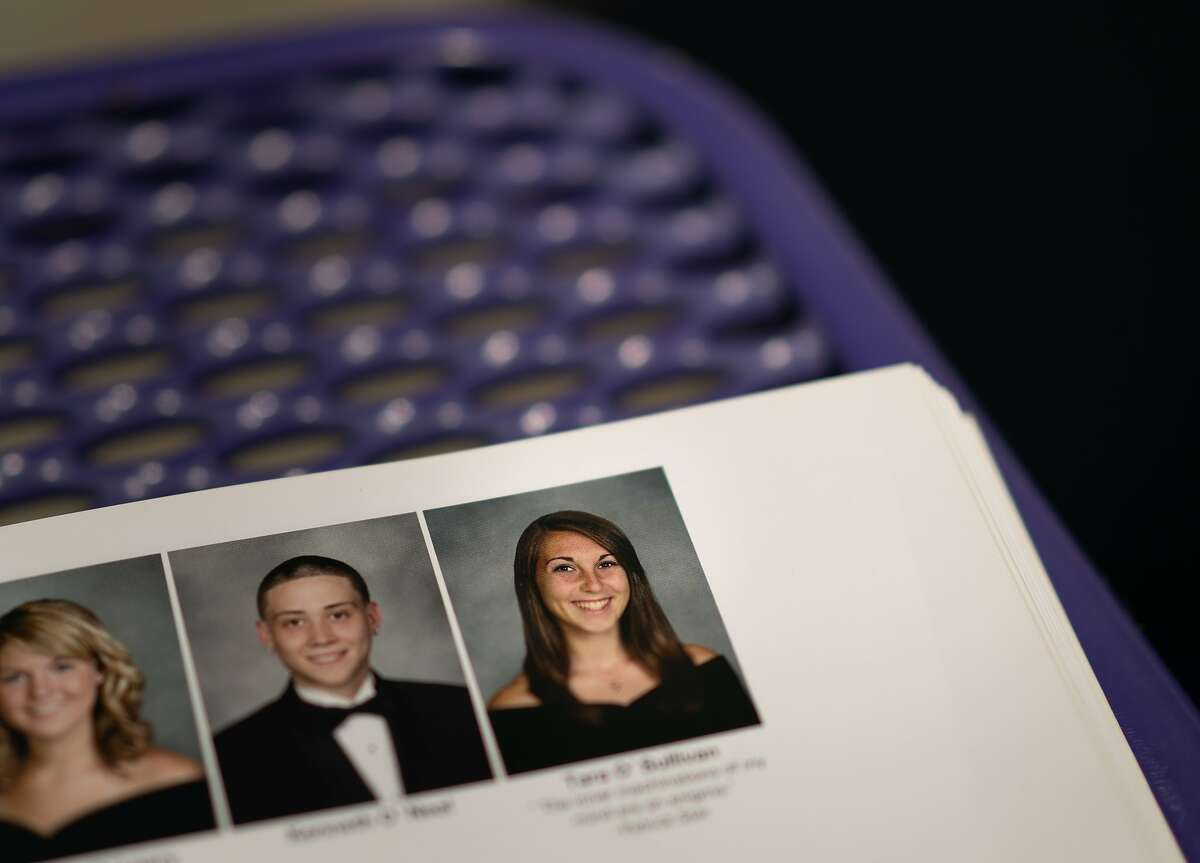 A photo of Sacramento Police officer Tara O'Sullivan in a College Park HS yearbook on Thursday, June 20, 2019, in Pleasant Hill.