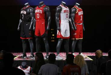 huge selection of eefff fdf7e Rockets unveil new uniforms - Houston Chronicle