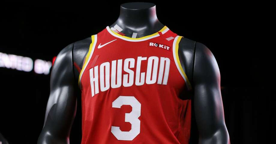 sale retailer 11d88 f4161 Throwback jersey gives Rockets fans championship buzz ...