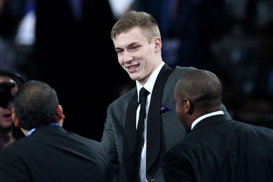 The Spurs took 6-foot-11 Croatian power forward Luka Samanic, left, with the 19th pick and 6-6 small forward Keldon Johnson of Kentucky at No. 29. Photo: Sarah Stier /Getty Images / 2019 Getty Images