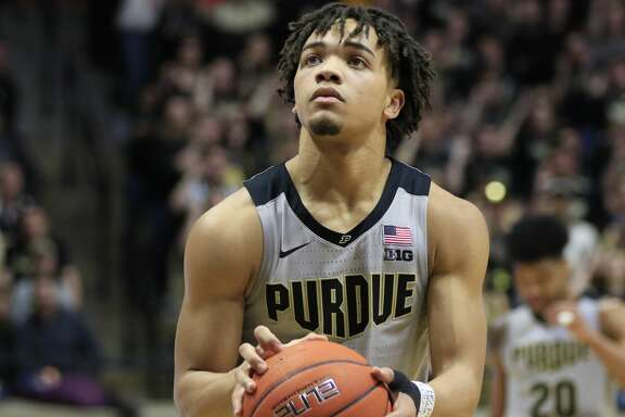 WEST LAFAYETTE, INDIANA - FEBRUARY 16: Carsen Edwards #3 of the Purdue Boilermakers shoots the ball in the game against the Penn State Nittany Lions during the second half at Mackey Arena on February 16, 2019 in West Lafayette, Indiana. (Photo by Justin Casterline/Getty Images)