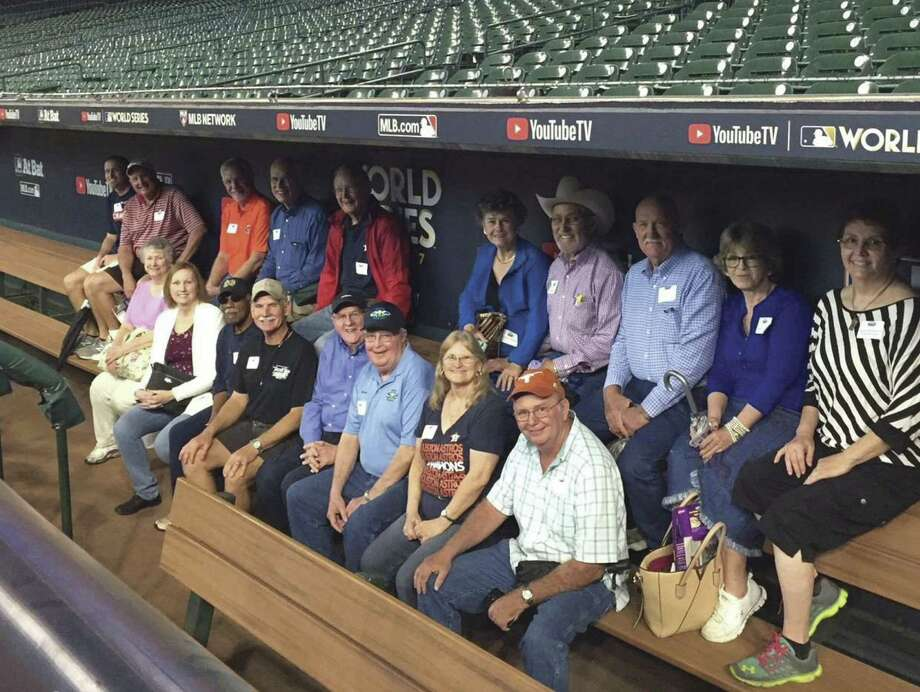 A few of the Houston Ground Angels enjoyed touring Minute Maid Park.