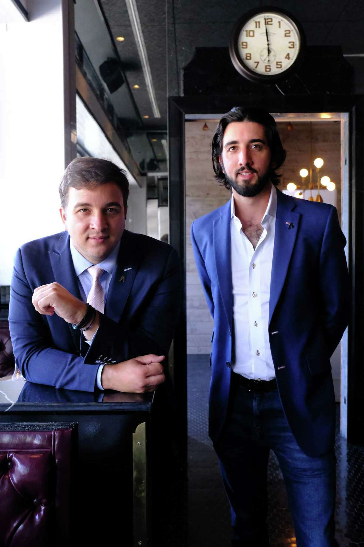 Alex and Eric Smith, owners of Atlas Restaurant Group which is opening Loch Bar and Ouzo Bay at River Oaks District.