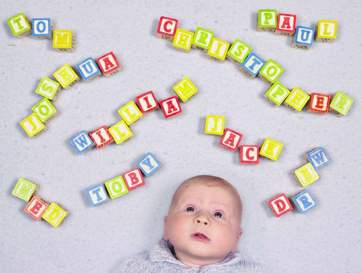 Fairfield_011101_Photo illustration of how parents pick their names for their babies. Kerry Sherck/Staff photo