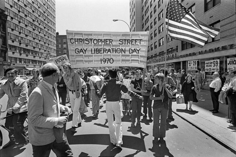 Thousands participating in a Pride March on June 28, 1970, marched from Sheridan Square in the Village up 6th Avenue to the Sheep Meadow in Central Park in New York City. Photo: Michael Evans /Contributed