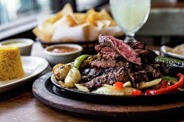 The famous beef fajitas at The Original Ninfa's on Navigation, Houston.