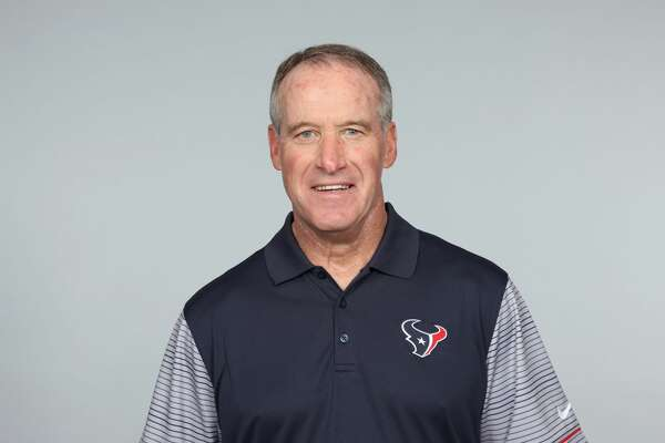 This is a photo of Jim Bernhardt of the Houston Texans NFL football team. This image reflects the Houston Texans active roster as of Wednesday, May 24, 2017. (AP Photo)