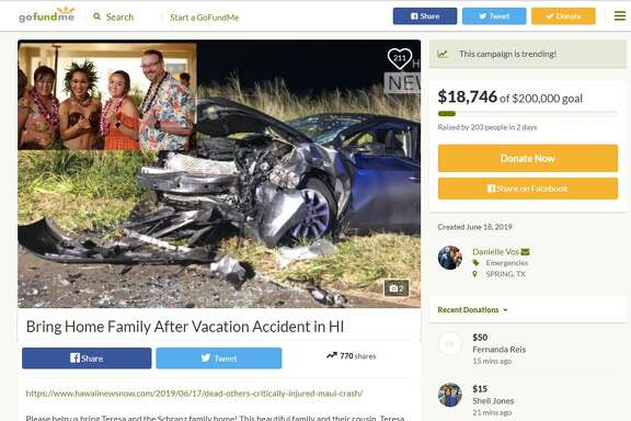 A  Go Fund Me Page  has been set up to help the family cover medical expenses and pay for funeral costs. Each member of the family suffered major injuries, which include vertebrae damages, cracked ribs and internal bleeding.