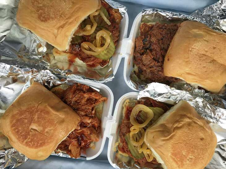 Papa's Quickdraw BBQ specialized in grab-and-go barbecue sandwiches made with brisket, chicken and pulled pork.