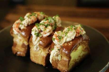 Crawfish rolls at Riel