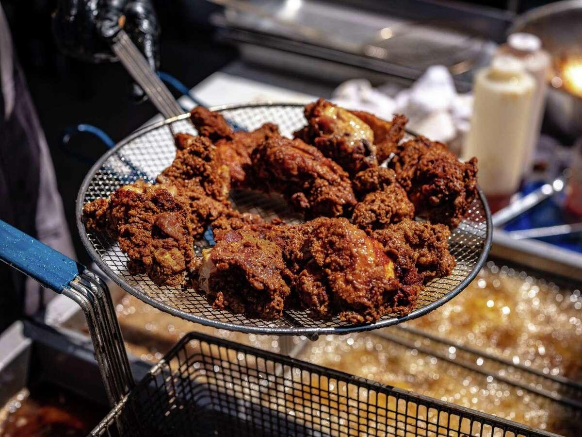 Killen's Barbecue fried chicken at the 2019 Houston Barbecue Festival