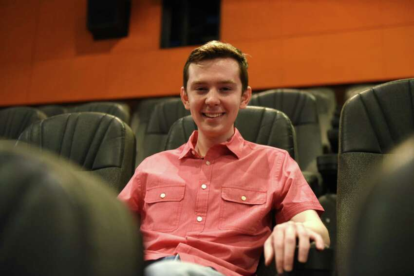 Jackson Murphy, local movie reviewer who created Lights, Camera, Jackson on Friday, June 14, 2019, at Regal Cinemas, Colonie Center in Colonie, N.Y. (Will Waldron/Times Union)