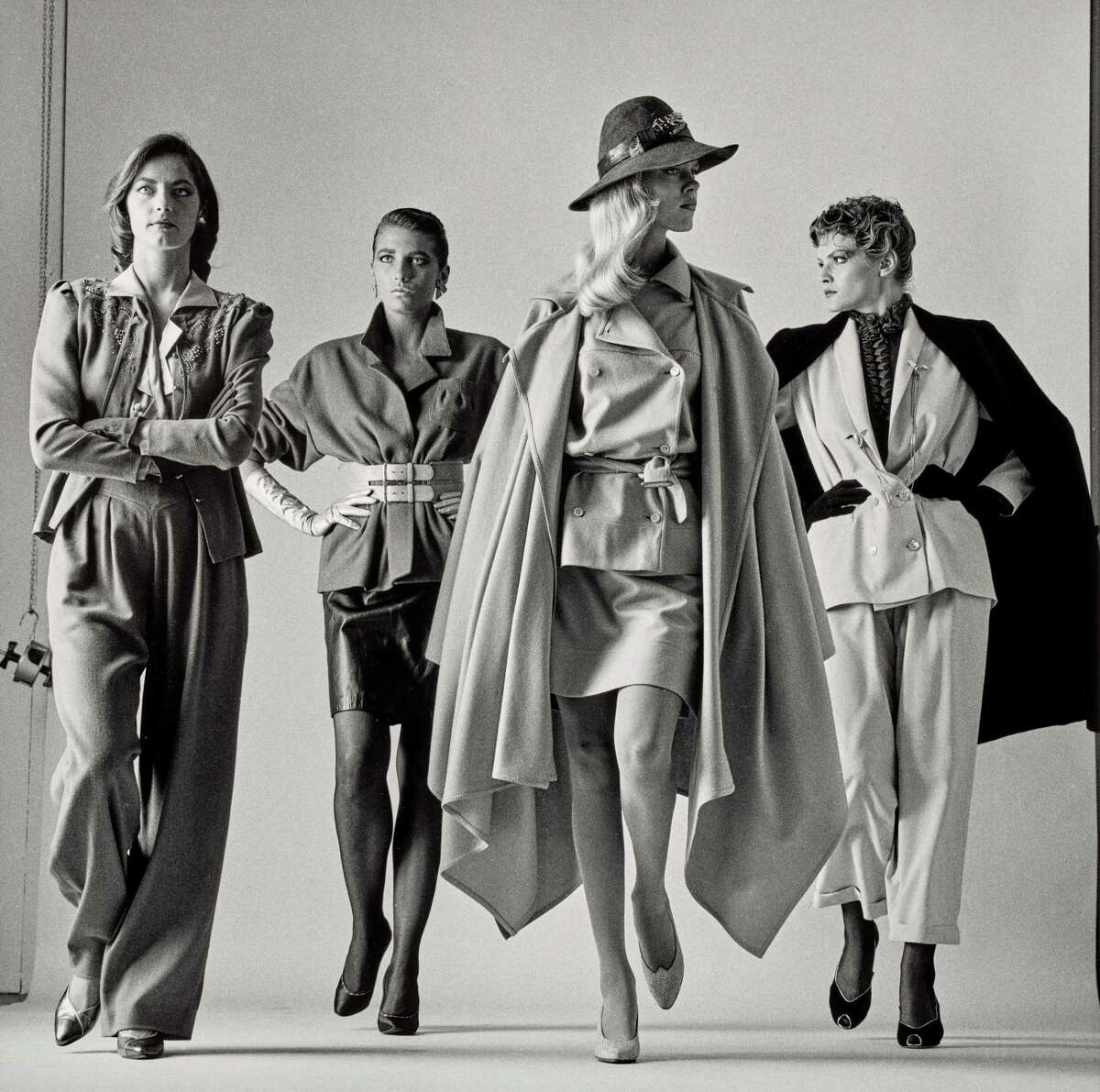 """From """"Icons of Style: A Century of Fashion Photography,"""" June 23-Sept. 22 at Museum of Fine Arts, Houston: Helmut Newton's """"Sie Kommen-Dressed,"""" 1981."""