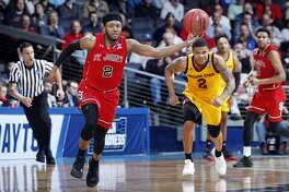 DAYTON, OHIO - MARCH 20: Shamorie Ponds #2 of the St. John's Red Storm drives to the basket during the second half against the Arizona State Sun Devils in the First Four of the 2019 NCAA Men's Basketball Tournament at UD Arena on March 20, 2019 in Dayton, Ohio. (Photo by Joe Robbins/Getty Images)