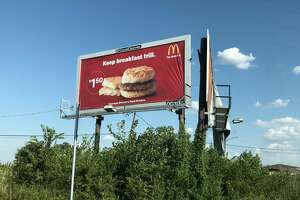 McDonald's uses Houston culture as part of its advertising with billboards around the city like this one that uses the slang of Houston's hip hop culture.