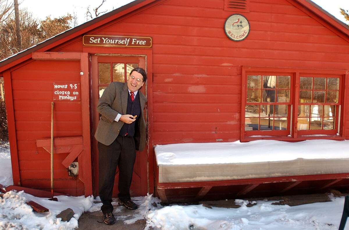 In a 2005 photo, Attorney Norm Pattis, owner of the Whitlock's Book Barn property, walks out of the property's main barn.