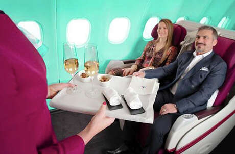 Business class seats on Air Italy are on sale.