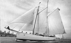 The schooner Wander Bird,out on San Francisco Bay, June 1, 1981  Photo ran 06/10/1981, P. 40