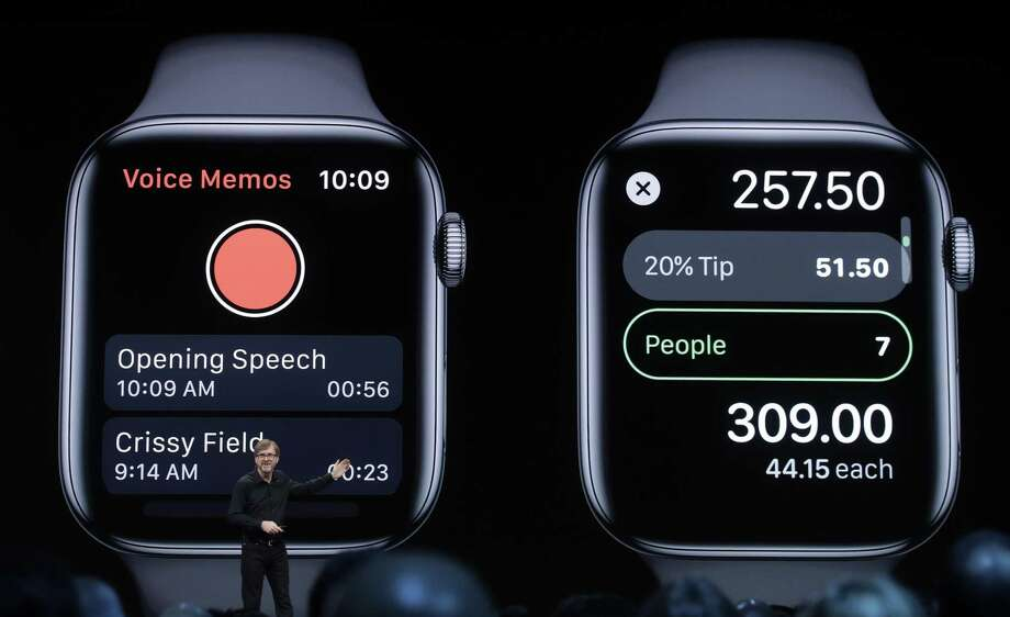 Apple's Kevin Lynch talks about the Apple Watch at the Apple Worldwide Developers Conference in San Jose, Calif., Monday, June 3, 2019. (AP Photo/Jeff Chiu) Photo: Jeff Chiu, STF / Associated Press / Copyright 2019 The Associated Press. All rights reserved