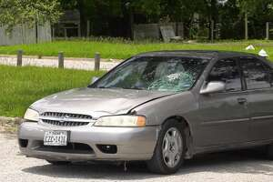 The vehicle associated with the hit-and-run was found at Edgewood Park, at the corner of Bellfort and Southpark.