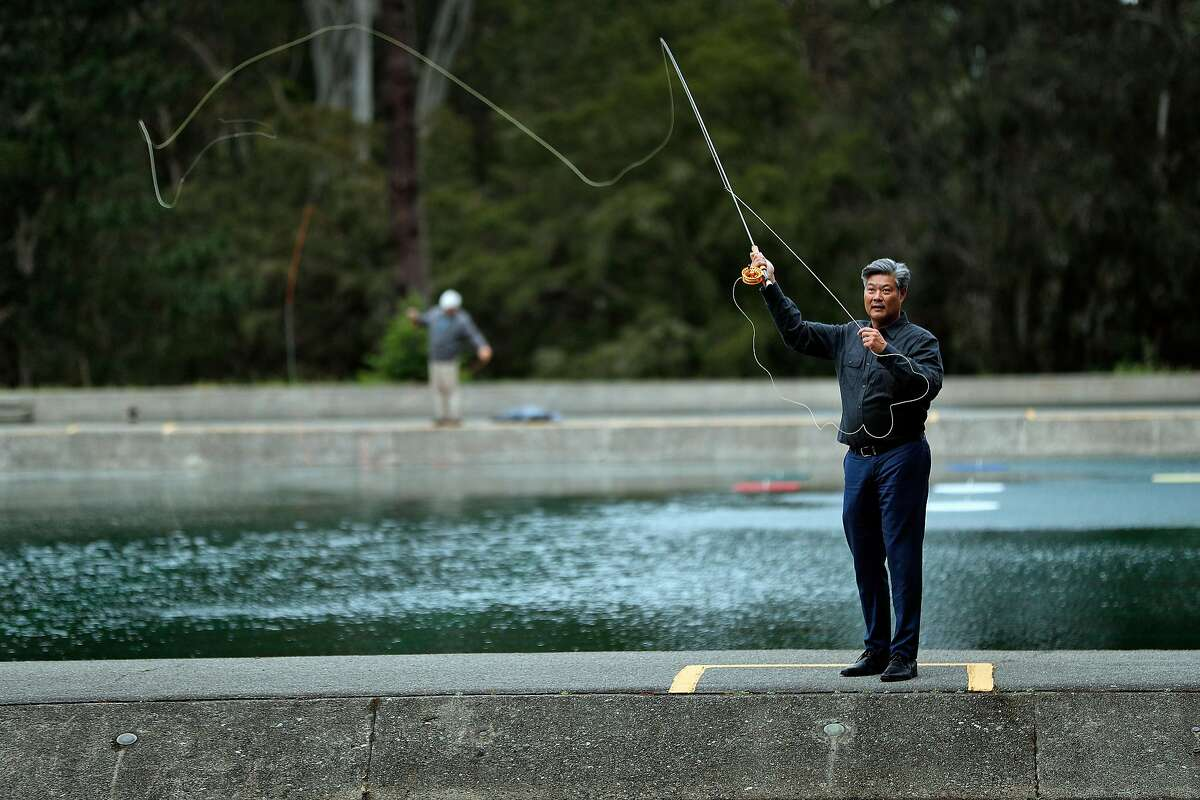 New San Francisco Chamber of Commerce President and CEO, Rodney Fong, at the casting ponds in Golden Gate Park in San Francisco, Calif., on Wednesday, May 15, 2019.