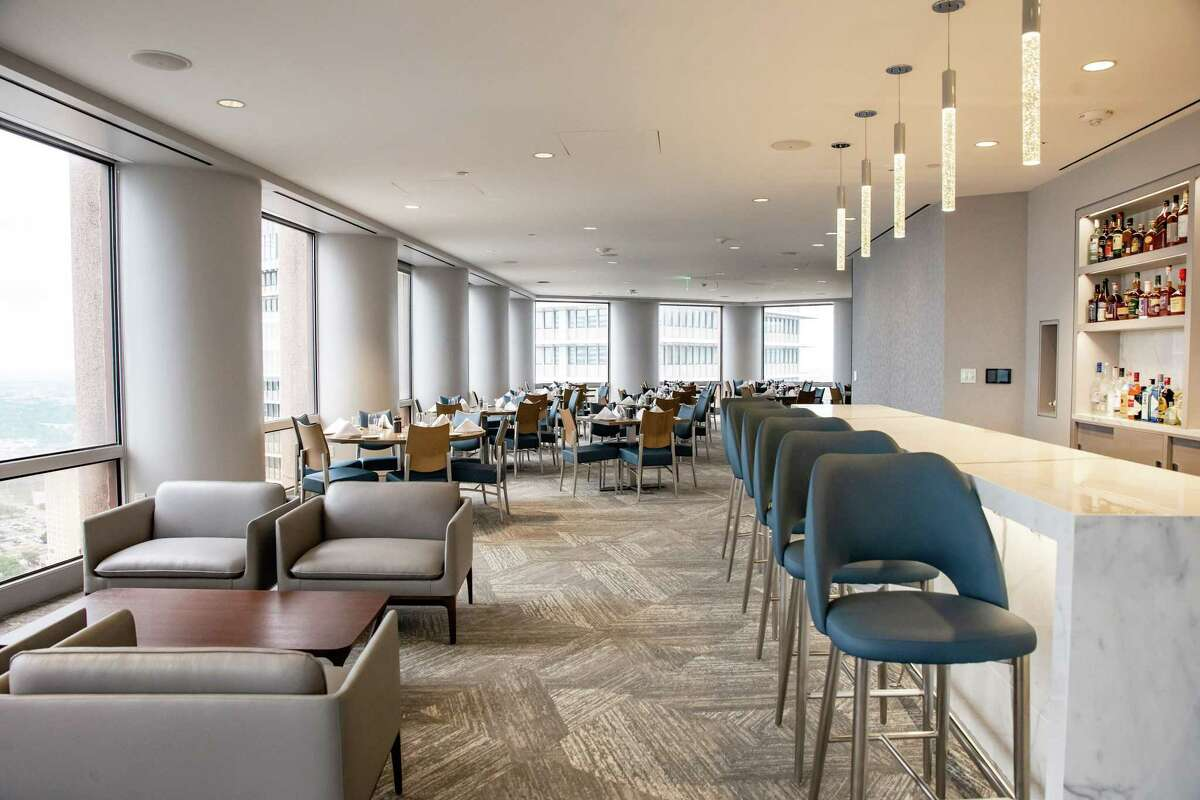 Dining room at Strato 550, the new restaurant on the 43rd floor of 1415 Louisiana St., open to the public.