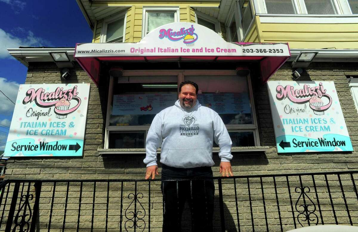 Owner Jay Piccirillo poses at Micalizzi's Italian Ice in Bridgeport, Conn., on Thursday Apr. 27, 2017. Micalizzi's is celebrating its 40th anniversary.