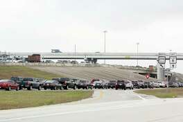 Traffic clogs Texas 288 just north of Beltway 8 in a file photo. A pilot park-and-ride service based from Pearland is set to start next month on weekdays. It will provide routes to and from the Texas Medical Center and downtown Houston.