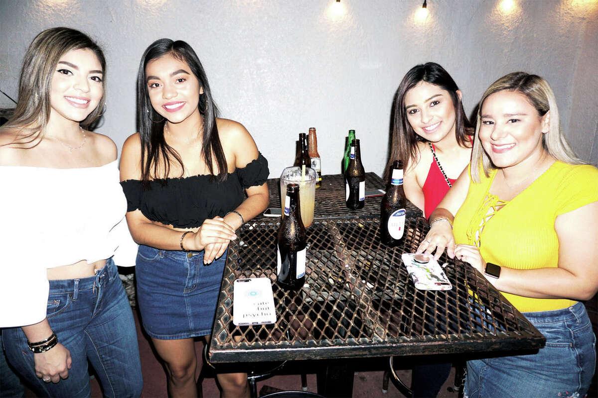 Analee Venegas, Ana Karen Samano, Joan Nava and Lesly Smano at The Happy Hour Downtown Bar