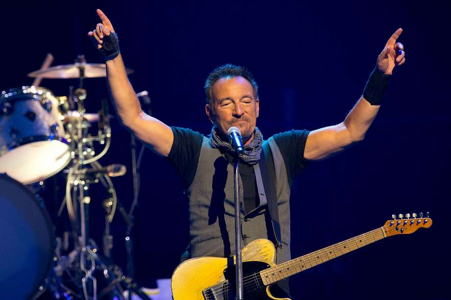 (FILES) In this file photo taken on July 11, 2016 US musician Bruce Springsteen performs with The E Street Band at the AccorHotels Arena in Paris.  Photo: Bertrand Guay, AFP/Getty Images