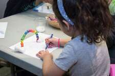 """Greenwich's Bruce Museum is hosting """"Summer Family Day: Swimming with Sharks and Art"""" July 14."""