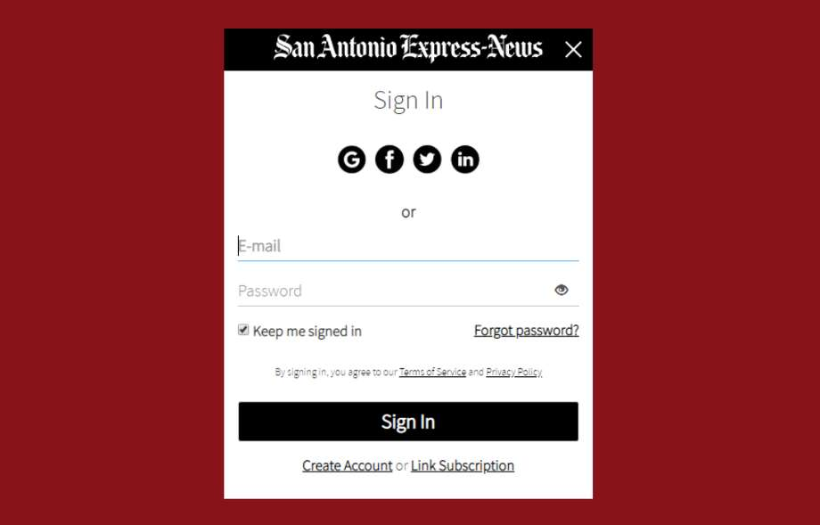 ExpressNews.com is getting a new log-in window and profile settings page. You can change your display name and password from here and manage newsletter sign-ups and alerts. Photo: San Antonio Express-News