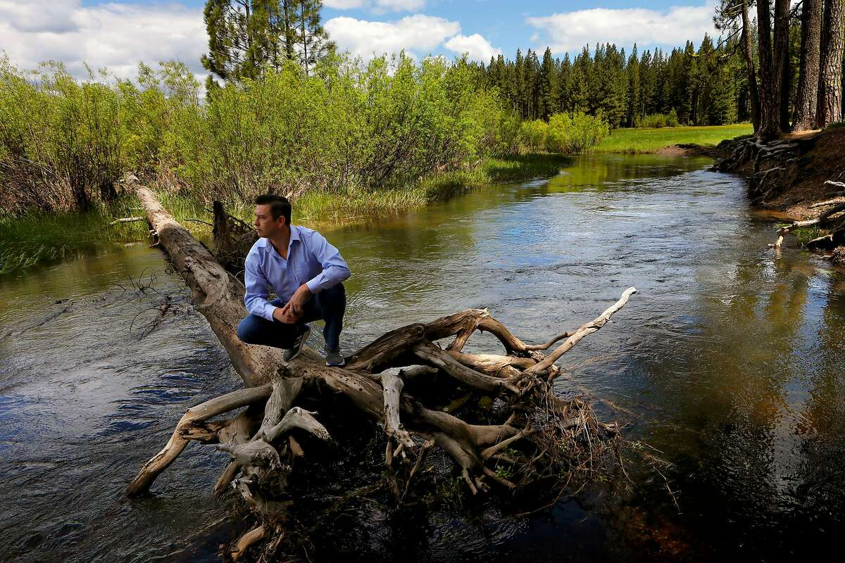 Ken Holbrook, the director of the Maidu Summit Consortium, on Yellow Creek at the Yellow Creek campground in the T�smam K�jom Valley, near Chester, Ca., on Tuesday May 28, 2019. The campground will be turned over to the Mountain Maidu Tribe as they prepare to reclaim the land of their ancestors.