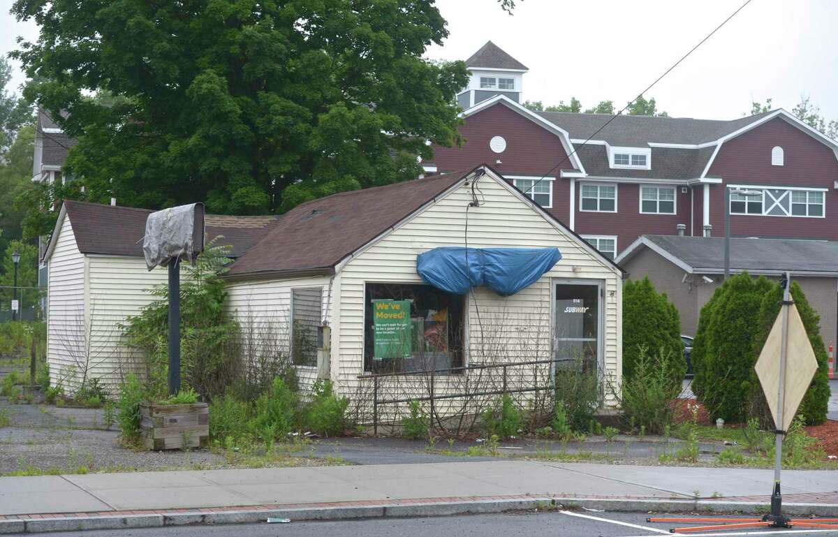The former Subway building in the Four Corners area, Thursday, June 20, 2019, in Brookfield, Conn.