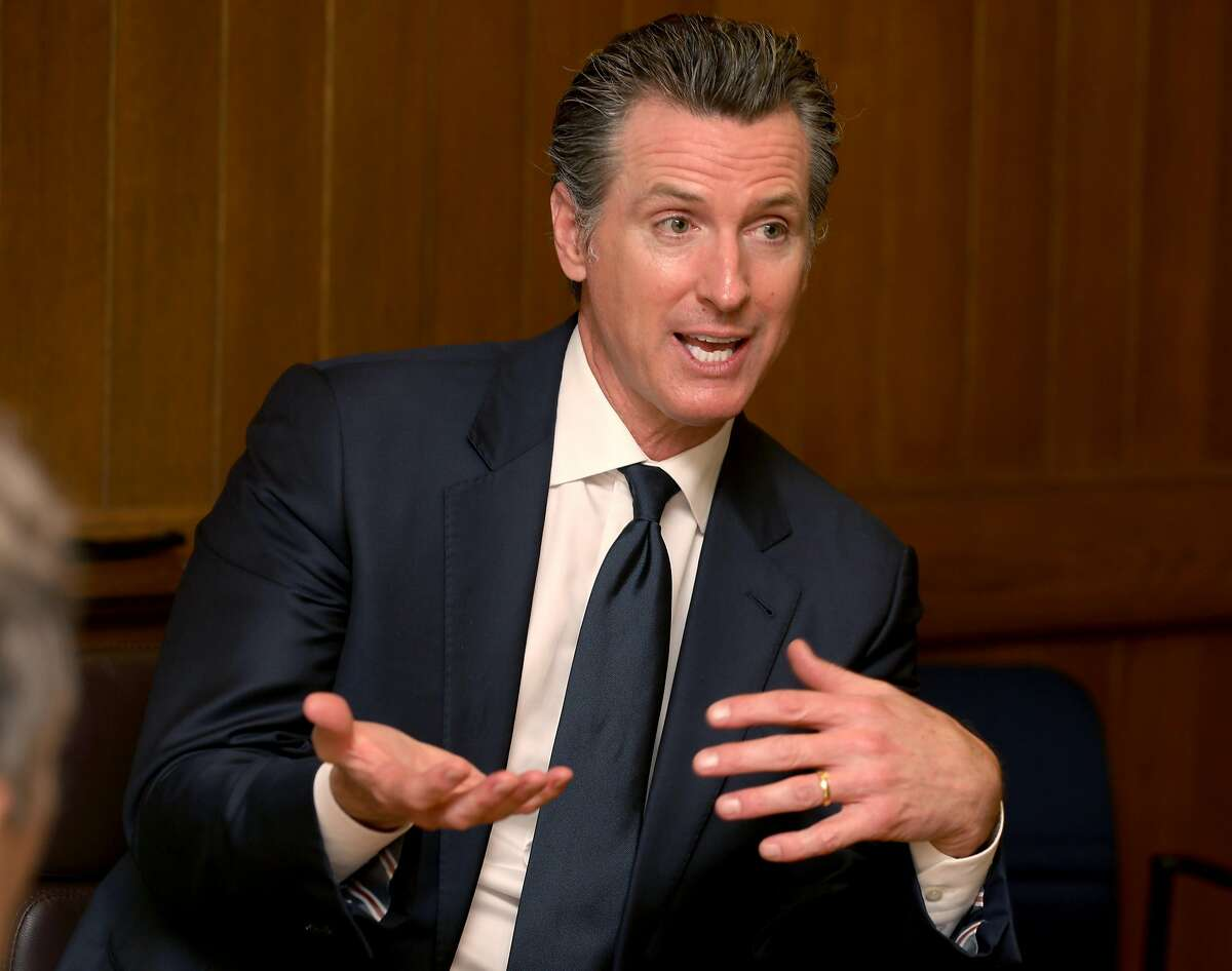 Governor Gavin Newsom comes to the San Francisco Chroniclefor an editorial board meeting on Friday, June 21, 2019 in San Francisco, Calif.