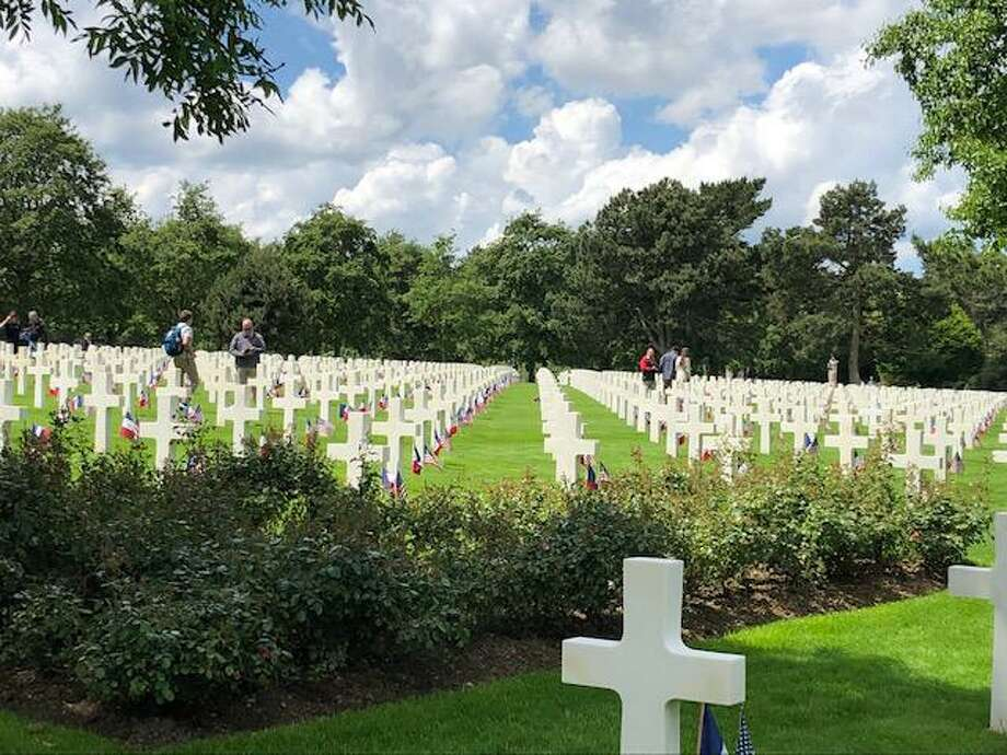 Houston area schools got to visit England and France, including a chance to attend the D-Day 7th Anniversary ceremonies. Shown here is Normandy American Cemetery in Colleville-sur-Mer, Normandy, France. Photo: Jennifer White