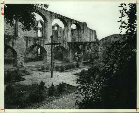 Mission San Francisco de la Espada, established in 1731 on the bank of the San Antonio River.