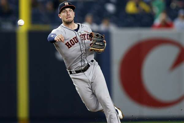 Houston Astros shortstop Alex Bregman in action during the eighth inning of a baseball game against the New York Yankees on Thursday, June 20, 2019, in New York. (AP Photo/Adam Hunger)