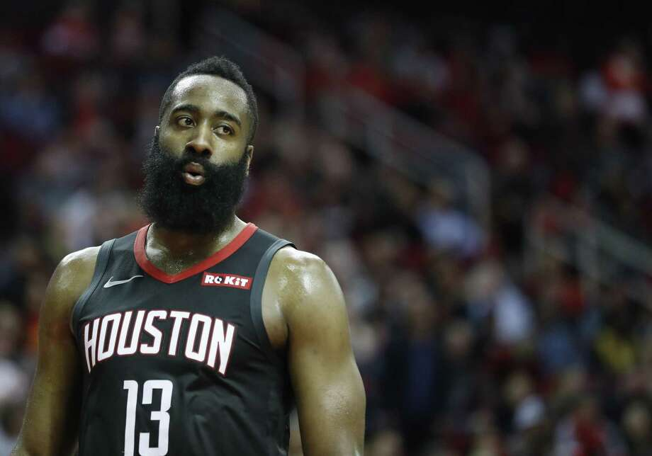 PHOTOS: James Harden, other Houston athletes before they had beards Houston Rockets guard James Harden (13) takes a breather during the second half of an NBA game at Toyota Center, Thursday, Feb. 28, 2019, in Houston. Photo: Karen Warren, Houston Chronicle / Staff Photographer / © 2019 Houston Chronicle