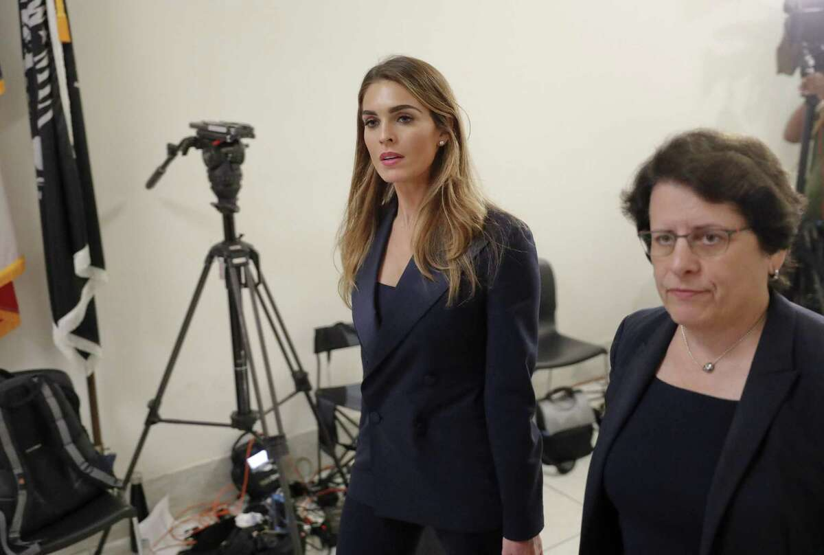 Former White House communications director Hope Hicks arrives for closed-door interview with the House Judiciary Committee at the Capitol in Washington, D.C., on Wednesday.