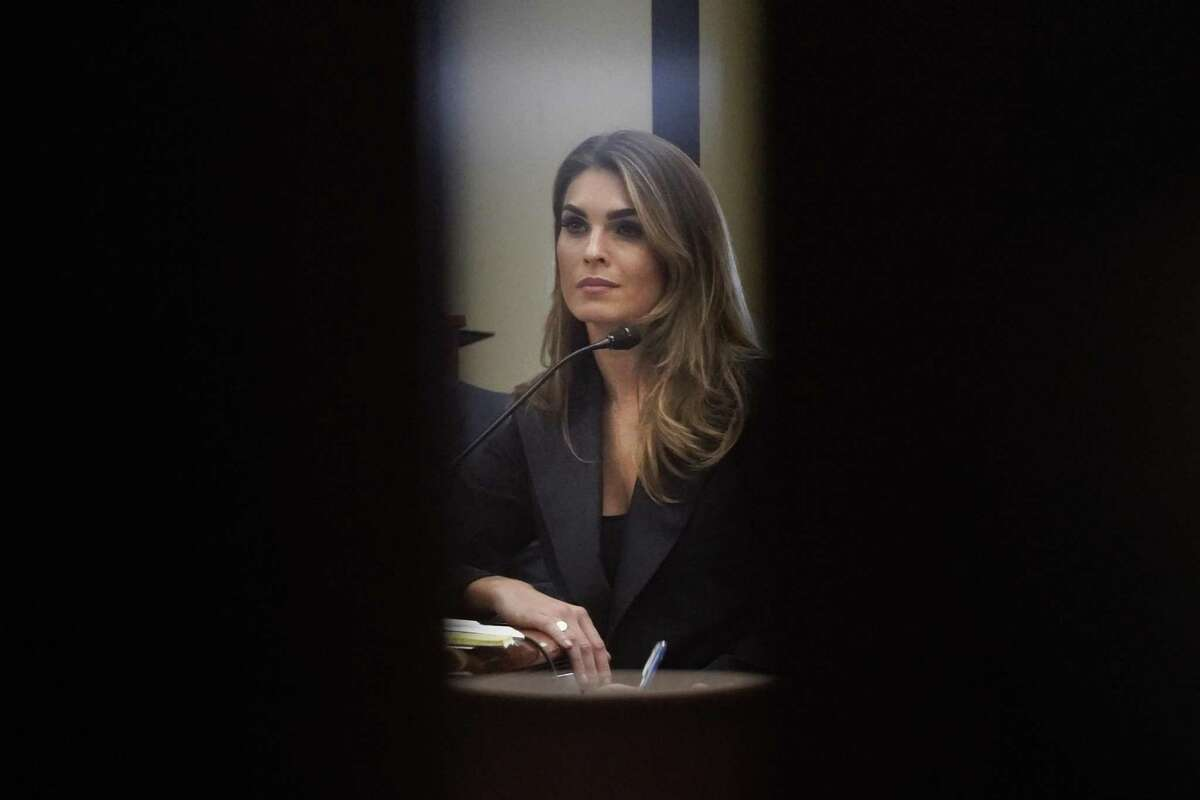 Hope Hicks is seen behind closed doors during an interview with the House Judiciary Committee.