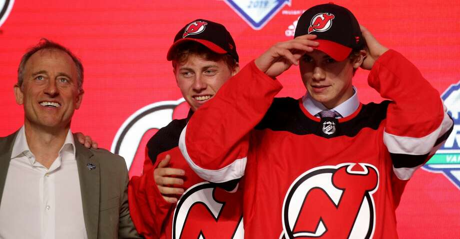 VANCOUVER, BRITISH COLUMBIA - JUNE 21: Jack Hughes smiles after being selected first overall by the New Jersey Devils during the first round of the 2019 NHL Draft at Rogers Arena on June 21, 2019 in Vancouver, Canada. (Photo by Bruce Bennett/Getty Images) Photo: Bruce Bennett/Getty Images