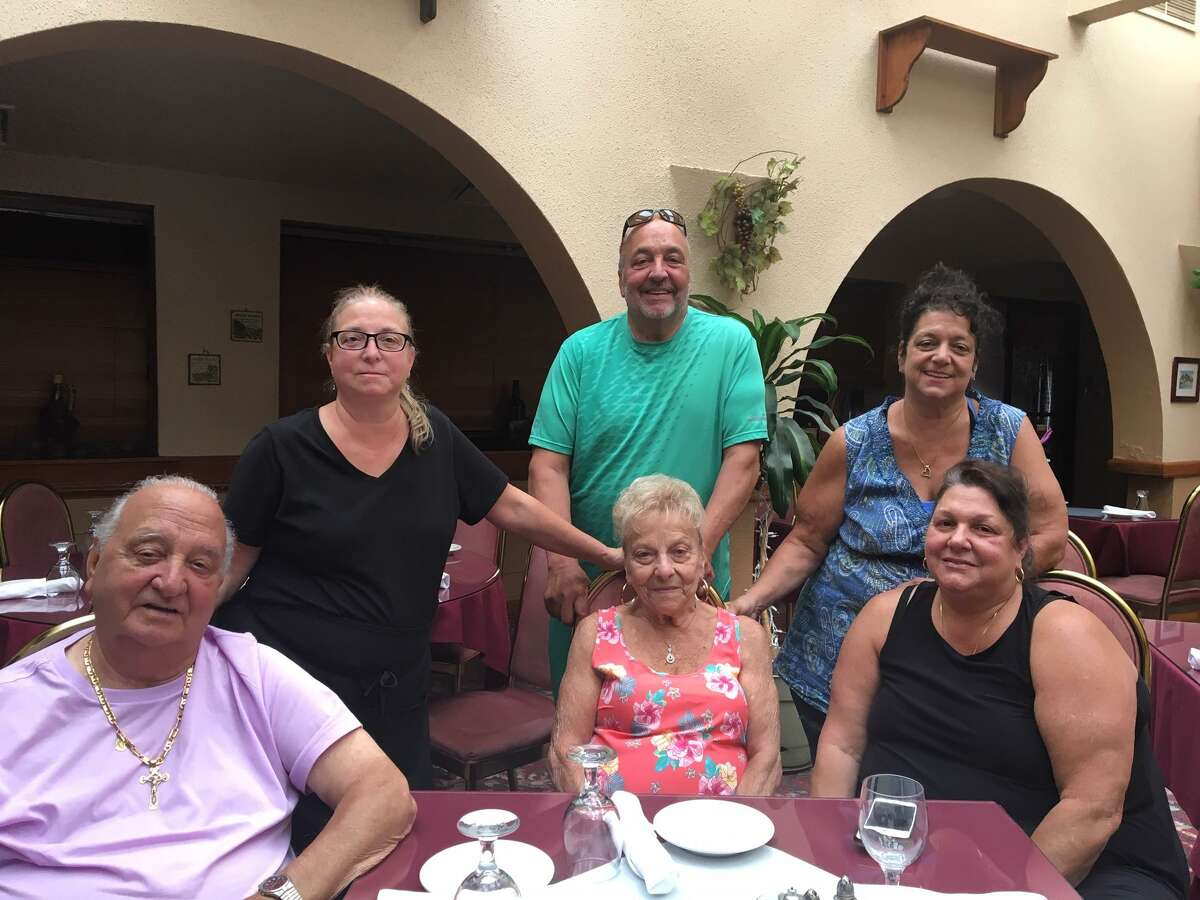 From left sitting, Tony Sacco, Lucille Sacco and Donna Aurioso. Standing is from left, Anne Greco, Frank Sacco and Maria Torres.