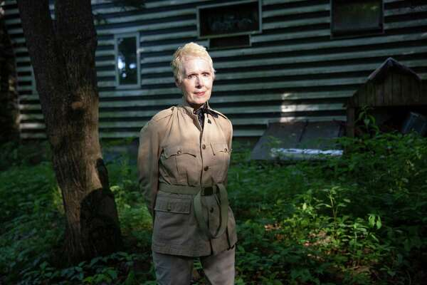 Writer E. Jean Carroll at her home in Warwick, New York on Friday.