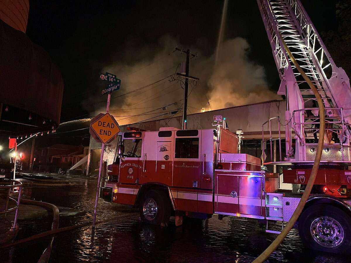 A structure firenear the corner of Georgia Way and East 14th Street inSan Leandro prompted evacuations late Friday night, according to the Alameda County Fire Department.