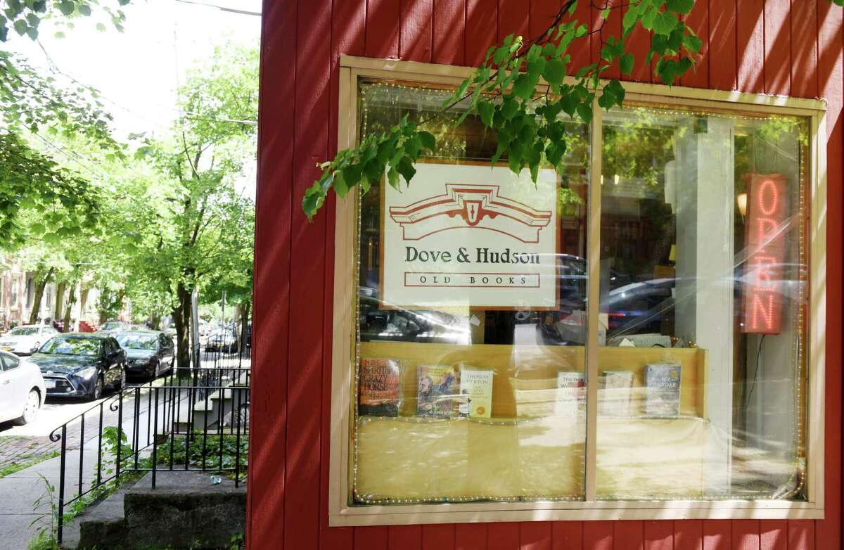 Exterior of Dove and Hudson bookstore on Friday, June 21, 2019, in Albany, N.Y. Store owner Dan Wedge is celebrating his 30th year owning the bookstore. (Will Waldron/Times Union)