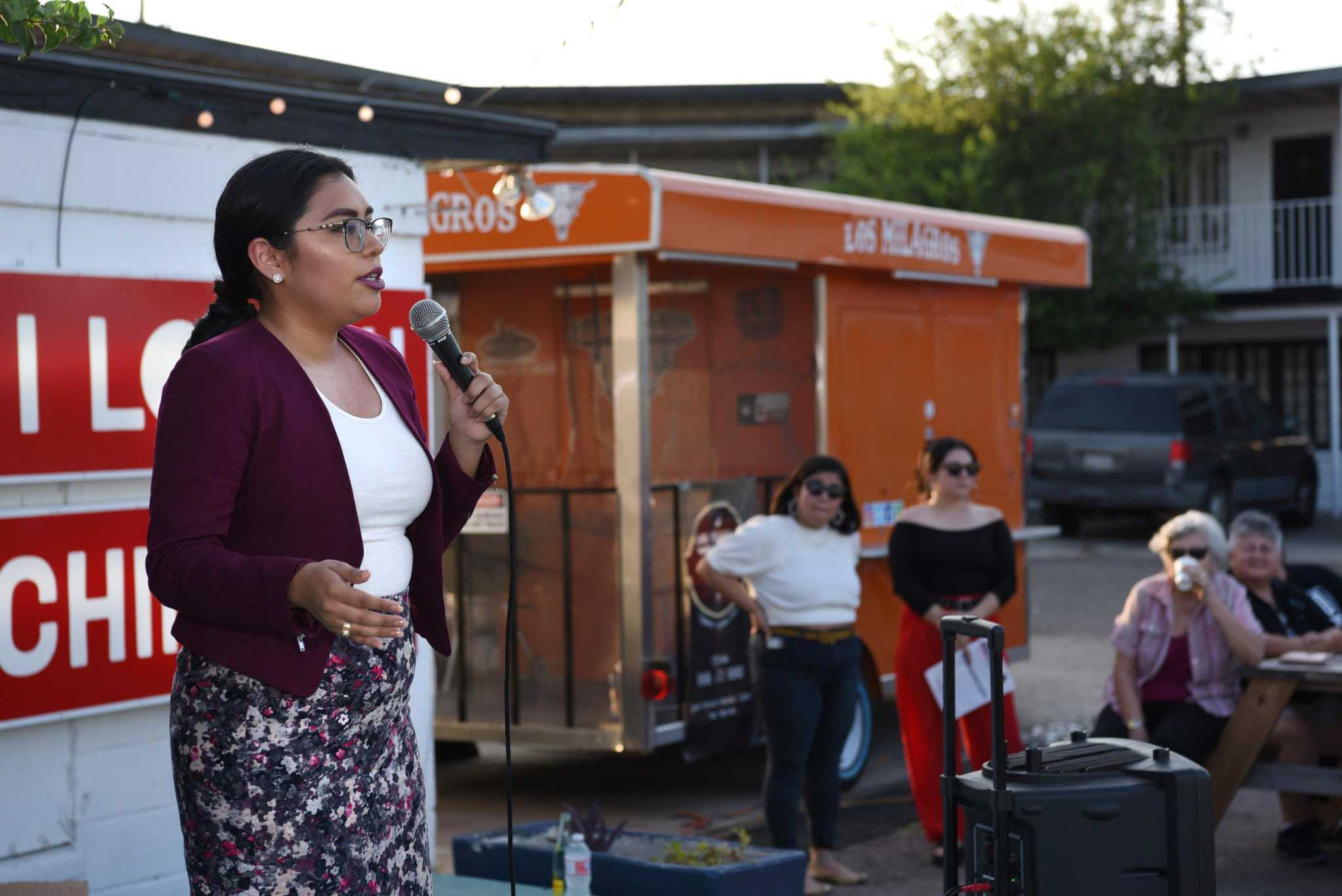 Cisneros addresses immigration, campaign finance in first public meeting